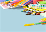 Сlipart school supplies crayons white collage template   BillionPhotos