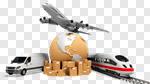 Сlipart Freight Transportation Transportation Shipping Truck Airplane 3d cut out BillionPhotos