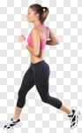 Сlipart run runner jogging white jogger photo cut out BillionPhotos