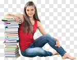 Сlipart College Student Studying Student Book Teenager photo cut out BillionPhotos