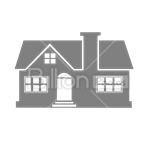 Сlipart House Chimney Real Estate Residential Structure Built Structure vector icon cut out BillionPhotos