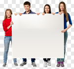Сlipart Sign Student College Student Holding Teenager  cut out BillionPhotos