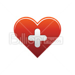 Сlipart heart heart shape heart button favorite favourite vector icon cut out BillionPhotos