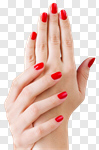 Сlipart nail polish red hand closeup photo cut out BillionPhotos