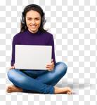 Сlipart Computer Teenager Laptop Headphones Music photo cut out BillionPhotos