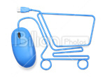 Сlipart E-commerce Shopping Cart Home Shopping Shopping Computer Mouse 3d icon cut out BillionPhotos