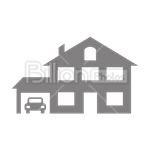 Сlipart House Garage Real Estate Residential Structure Built Structure vector icon cut out BillionPhotos