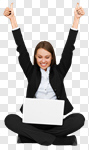 Сlipart Computer Women Laptop Cheerful Happiness photo cut out BillionPhotos