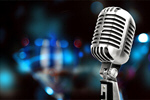 Сlipart silver microphone mic white old background   BillionPhotos
