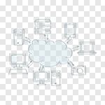 Сlipart cloud clouding sketch laptop network vector cut out BillionPhotos