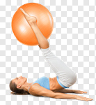 Сlipart Pilates Fitness Ball Yoga Exercising Ball photo cut out BillionPhotos