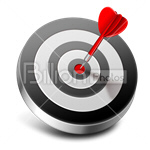 Сlipart Target Hitting Target Dart Dartboard Aiming vector icon cut out BillionPhotos