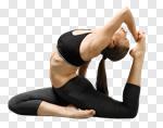 Сlipart yoga pose pigeon asana strength photo cut out BillionPhotos
