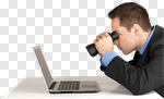 Сlipart Searching Binoculars Computer Laptop Business photo cut out BillionPhotos