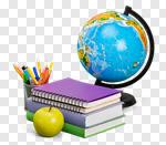 Сlipart school back book globe background photo cut out BillionPhotos