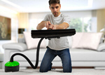 Сlipart Man cleaner in room vacuum couch sofa clean   BillionPhotos